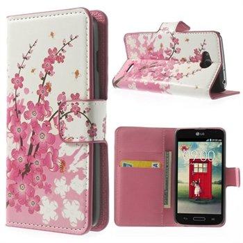 Billede af LG L90 Flip Cover Med Pung - Plum Blossom