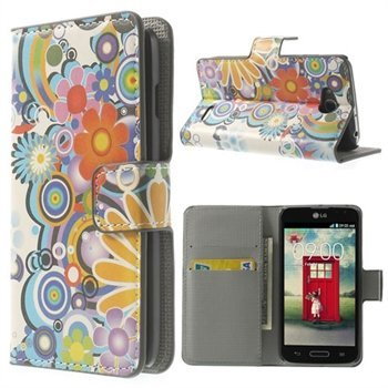 Image of   LG L90 Flip Cover Med Pung - Flower Power
