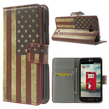 Billede af LG L90 Flip Cover Med Pung - Stars & Stripes