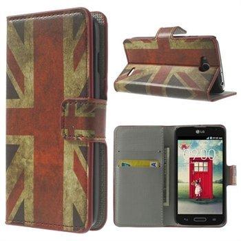 Billede af LG L90 Flip Cover Med Pung - Union Jack