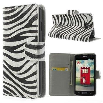 Billede af LG L90 Flip Cover Med Pung - Zebra