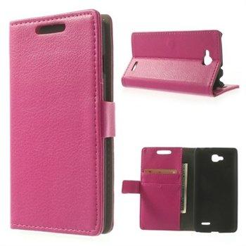 Image of LG L90 Deluxe Flip Cover Med Pung - Rosa
