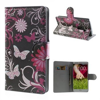 Image of LG Optimus G2 FlipStand Taske/Etui - Black Butterfly