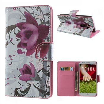 Image of LG Optimus G2 FlipStand Taske/Etui - Lotus Flower