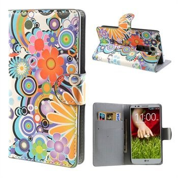 Image of LG Optimus G2 FlipStand Taske/Etui - Flower Power