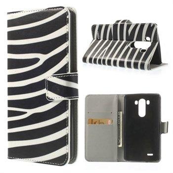 Image of LG G3 Flip Cover Med Pung - Zebra