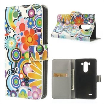 Image of   LG G3 Flip Cover Med Pung - Flower Power