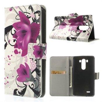 Billede af LG G3 Flip Cover Med Pung - Lotus Flower