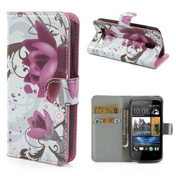Image of HTC Desire 500 FlipStand Taske/Etui - Lotus Flower