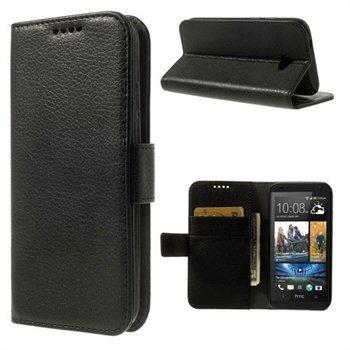 HTC Desire 601 Flip Cover Med Pung - Sort
