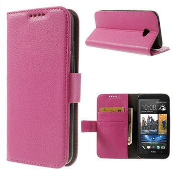 HTC Desire 601 Flip Cover Med Pung - Rosa