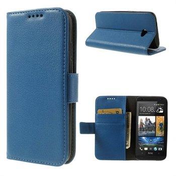 HTC Desire 601 Flip Cover Med Pung - Blå