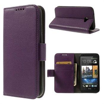 HTC Desire 601 Flip Cover Med Pung - Lilla