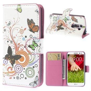 Image of LG G2 Mini Flip Cover Med Pung - Vivid Butterfly