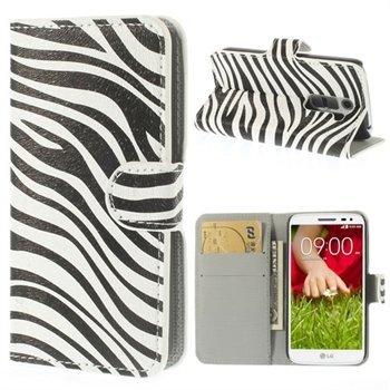 Image of LG G2 Mini Flip Cover Med Pung - Zebra