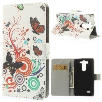 Billede af LG G3 S Design Flip Cover Med Pung - Vivid Butterfly