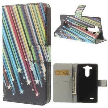 Billede af LG G3 S Design Flip Cover Med Pung - Shooting Stars