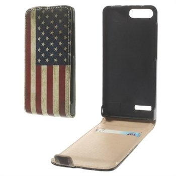 Image of Huawei Ascend G6 Flip Cover - Stars & Stripes