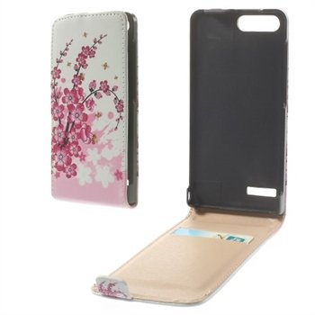 Image of Huawei Ascend G6 Flip Cover - Plum Blossom