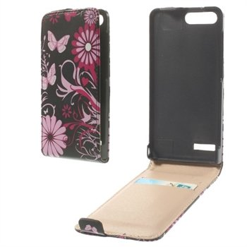 Image of Huawei Ascend G6 Flip Cover - Butterfly Flowers