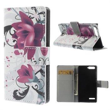 Image of Huawei Ascend G6 Design Flip Cover Med Pung - Lotus Flower