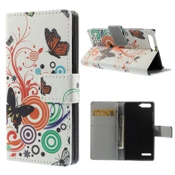 Image of Huawei Ascend G6 Design Flip Cover Med Pung - Vivid Butterfly
