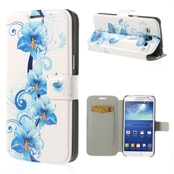 Billede af Samsung Galaxy Grand 2 Flip Cover Med Pung - Blue Flower