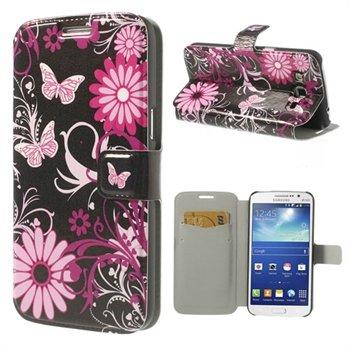 Billede af Samsung Galaxy Grand 2 Flip Cover Med Pung - Butterfly & Flower