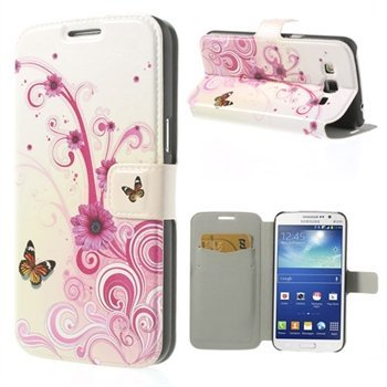 Billede af Samsung Galaxy Grand 2 Flip Cover Med Pung - Floral Butterfly