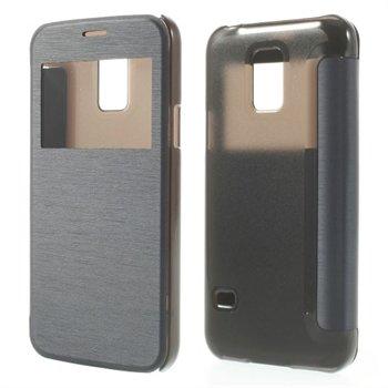 Billede af Samsung Galaxy S5 Mini S-View Flip Cover - Grå/Blå