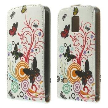 Billede af Samsung Galaxy S5 Mini Design Flip Cover - Vivid Butterflies