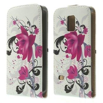 Billede af Samsung Galaxy S5 Mini Design Flip Cover - Lotus Flower