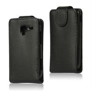 Image of Samsung Galaxy Ace 2 taske/etui med flip lukning - sort