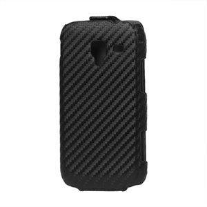 Image of Samsung Galaxy Ace 2 taske/etui med flip lukning - sort carbon