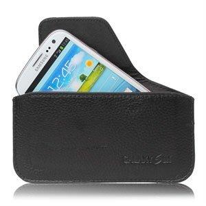Image of   Samsung Galaxy S3 taske/etui - sort læder