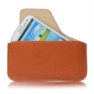 Image of   Samsung Galaxy S3 taske/etui - brun læder