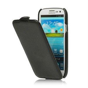 Image of   Samsung Galaxy S3 taske/etui med flip lukning - sort