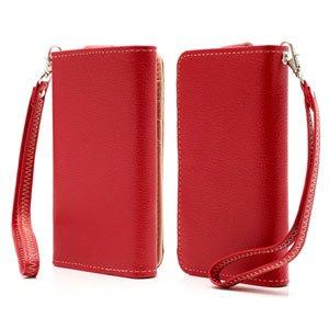 Billede af Flot taske med rem og kreditkortholder - rød