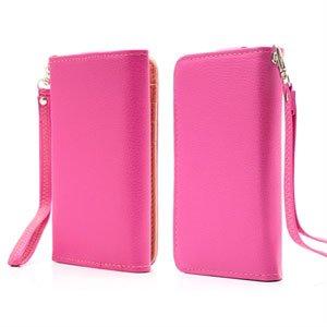 Image of   Flot taske med rem og kreditkortholder - rosa