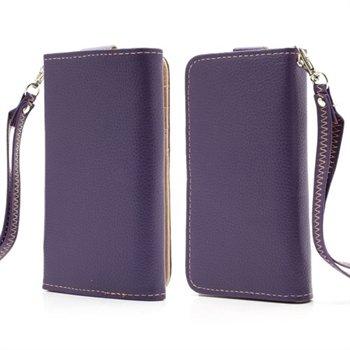 Billede af Flot taske med rem og kreditkortholder - lilla