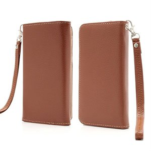 Billede af Flot taske med rem og kreditkortholder - brun