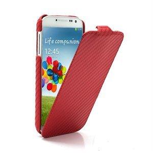 Billede af Samsung Galaxy S4 FlipCase Taske/Etui - Carbon Rød