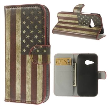 Image of HTC One Mini 2 Flip Cover Med Pung - Stars & Stripes