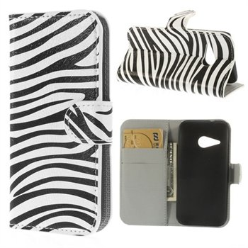 Image of HTC One Mini 2 Flip Cover Med Pung - Zebra