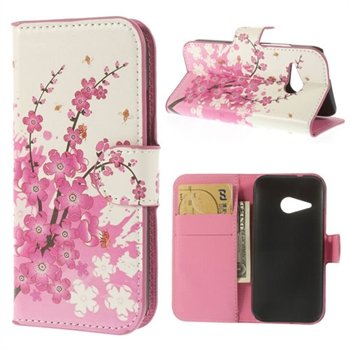 Image of HTC One Mini 2 Flip Cover Med Pung - Plum Blossom