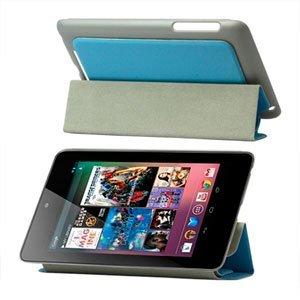 Image of Smart cover i kunstlæder med indbygget stand til Google Nexus 7 - blå
