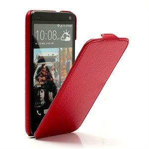 Image of HTC One Taske/Etui med fliplukning - rød