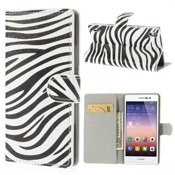 Image of Huawei Ascend P7 Flip Cover Med Pung - Zebra