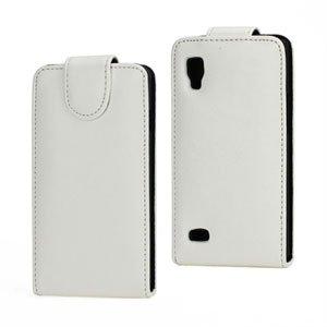Image of LG Optimus L9 taske/etui med flip - hvid