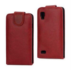 Image of LG Optimus L9 taske/etui med flip - rød
